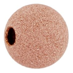 6mm Rose Gold-Filled Stardust Round Bead with 1.5mm Hole | Fusion Beads
