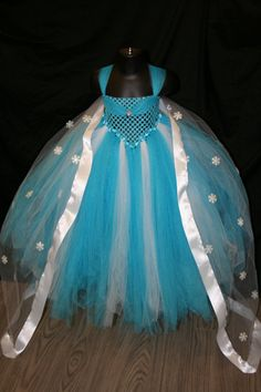 Frozen Inspired Tutu Dress Frozen Tutu by LittleMissTrendyTutu, starting at $58.00