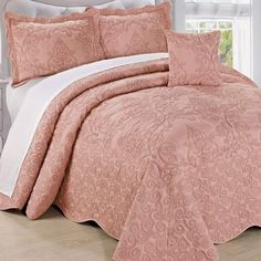 St Purple, King Clair Paisley Plush Luxury 3-Piece Comforter Set