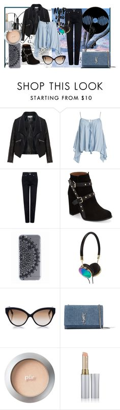 """""""Music Chic"""" by ultravioletlight1963 on Polyvore featuring Zizzi, Sans Souci, Être Cécile, Topshop, Frends, Cutler and Gross, Yves Saint Laurent, PurMinerals, Jane Iredale and NARS Cosmetics"""