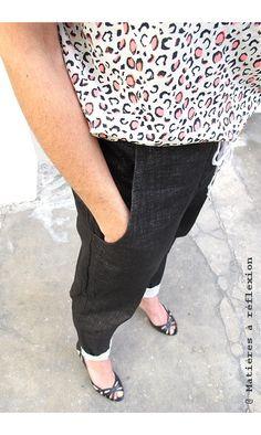 Elsa Esturgie pantalon lin noir Marcia #elsaesturgie #pantalon #pants #lin #linen #black #noir #marcia #sarouel #coton #cotton #fashion #madeinfrance #ss15
