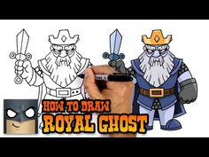 How to Draw Royal Ghost   Clash Royale (Step by Step Drawing Tutorial) - YouTube