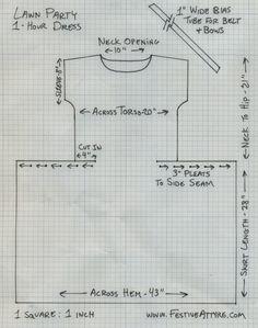Festive Attyre: 1-hour dress [Downton-esque], lawn party edition