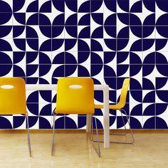 M² Azulejos Modelo Quadrante Azul