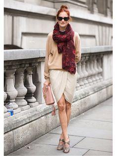 Street Style - Taylor Tomasi-Hill #WrapSkirt
