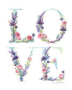Acuarela Floral amor arte Print - acuarela ilustración de la palabra amor con lavanda, lirios de agua y amapolas rosa. Se trata de una alta calidad y archivo impresión de mi acuarela original. Se imprime en un papel pesado algodón. Mano firmado con lápiz en la parte posterior. Esta lámina está disponible en 8 x 10 y 11 x 14. Por favor, seleccione el tamaño en el menú desplegable a la derecha. La impresión será embalada en un bolso plástico violonchelo libre ácido y respaldo junta luego…