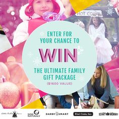 Win this $1600 Ultimate Family Fun Holiday Gift Prize Package from @ninenaturals @scarymommy @kiwicrate @darbysmart @thelittlerabbit