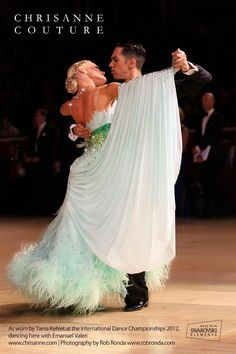 Beautiful mint green standard gown. The float is beautiful too but not sure about so much volume, maybe feather floats.