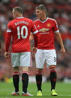 Wayne Rooney & Bastian Schweinsteiger l MUFC Manchester United Images, Manchester United Football, Man Utd Squad, Man Utd Crest, Bastian Schweinsteiger, Cristiano Ronaldo 7, Football Icon, Premier League Champions, Wayne Rooney