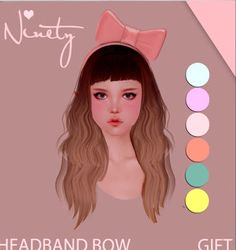 Second Life Freebies and more: Headband Bows