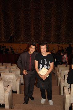 Orkhan Mirzesoy at Festival with his friend Nihad Huseynli #OrkhanMirzesoy