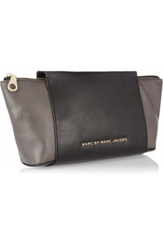 Marc by Marc Jacobs|Burg Boxer two-tone leather clutch|NET-A-PORTER.COM
