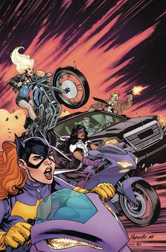 """DC COMICS (W) Julie Benson, Shawna Benson (A) Claire Roe (CA) Yanick Paquette """"WHO IS ORACLE?"""" part 3! Batgirl, Black Canary, and Huntress must team up with the GCPD to protect a mafia capo from an at"""