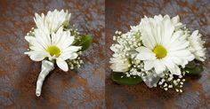 Groom's Boutonniere and Groom's mother's corsage- I want daisies in my wedding :)
