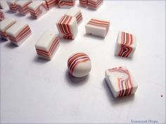 Imitation striped stones: lepim beads of plastic - Fair Masters - handmade, handmade