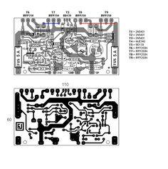 100W diy audio Ultimate Fidelity Amplifier board MOS tube