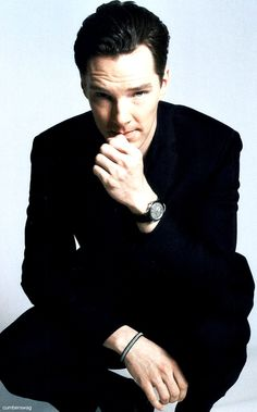 benedict cumberbatch - thinking about how he can be sexier. Answer: sit and think in front of a camera.