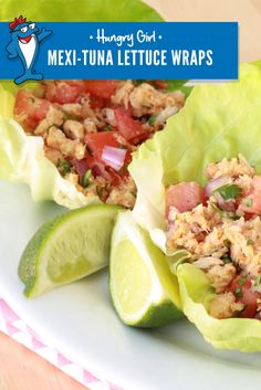 Swap the standard tortilla for fresh lettuce to save at least 150 calories in your next tuna wrap. Let #HungryGirl teach you how!