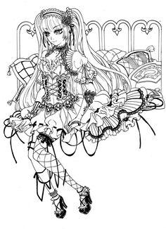 gothic loli sketch by BerryKuror Deviantart
