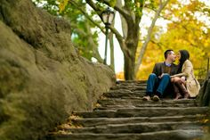 Fall Engagement Photos Central Park NYC