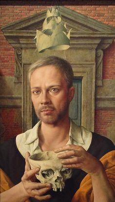 Self Portrait, 2012 by Michael Triegel on Curiator, the world's biggest collaborative art collection. Selfies, Figurative Kunst, Dance Of Death, Digital Museum, Painting Studio, Collaborative Art, Renaissance Art, Art History, Arno