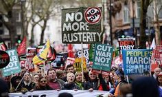 """""""The Green party leader, Natalie Bennett, told the crowd: """"We want all of the Tories out, not just David Cameron. We have a vision of a different kind of society. A society that works for the common good."""""""" PS no coverage on the BBC"""