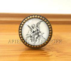 AngelDrawer knobs/ Handmade Vintage Bronze Dresser knobs