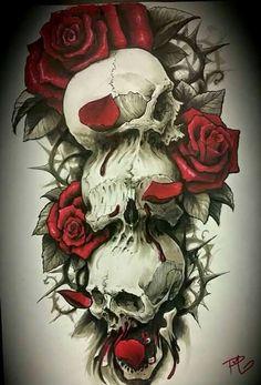 Skull & Roses Illustration | JYCTY