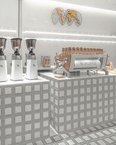 Spa Interior, Tree Canopy, Coffee Branding, Brickwork, Retail Space, Restaurant Design, Brick Wall, Dezeen, Minimalist Design