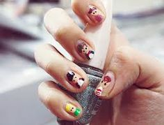 One Direction nail art. I'm not a huge fan of one direction but what if you did this for the Avengers! Shellac Nails, Acrylic Nails, Nail Polish, Cute Nails, Pretty Nails, Mani Pedi, Manicure, One Direction Nails, Nails First