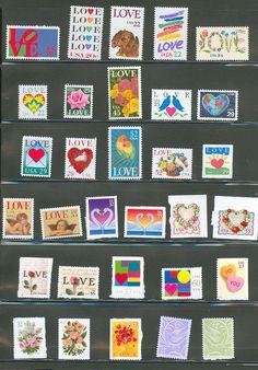 1975-2006 Love Stamps (via Champion Stamp) #valentinedesign