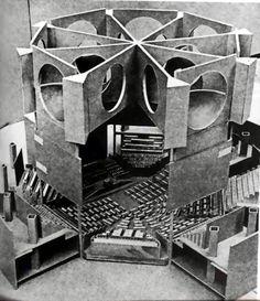A cut-away #model of Louis Kahn's parliamentary building in Dhaka, Bangladesh. #architecture