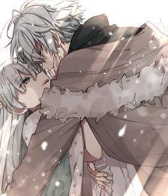 Artist : ᴷ ᴵ ᴺ ᴬ .ᴬ Anime Cupples, Old Anime, Dark Anime, Anime Kawaii, Anime Guys, Anime Love Couple, Manga Couple, Cute Anime Couples, Anastasia Romanov