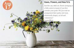 3 Essential Flower Arrangements Vases, Flowers, and How-To's: www.teelieturner.com #DIY
