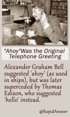 The worlds first telephone operator throwbackthursday rapid ahoy was the original telephone greeting m4hsunfo Choice Image
