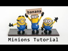 Minions 3 in 1 Polymer Clay Figurines Tutorial