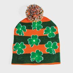 1e249d2fed5 Shamrock Light up Hat Light up the night—and keep warm—with a beanie.  Creative Irish Gifts