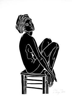 "Saatchi Art Artist A Weyer; Printmaking, ""Elise - Limited Edition 3 of 10"" #art"