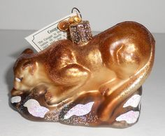 Old World Christmas COUGAR New Glass Ornament Wild Cat OWC Merck Family | eBay Cat Christmas Ornaments, Old World Christmas, Christmas Cats, Glass Ornaments, Christmas Decorations, Holiday Decor, Ebay, Christmas Decor, Christmas Tables