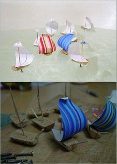 Juguem a fer vaixells amb taps de suro?