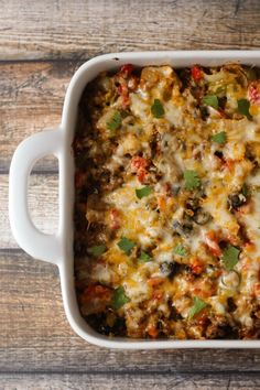 Beef Nacho Casserole - cheesy and DELICIOUS!