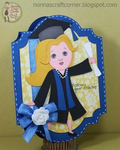 Nonna's Craft Corner created this graduation card using the Layered Labels 1 and Graduates Cutting Files