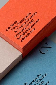 Corporate identity for Cris Noda on Behance - Graphic Files Business Card Maker, Cool Business Cards, Business Branding, Business Card Design, Corporate Business, Diy Buisness Cards, Letterhead Business, Letterpress Business Cards, Minimalist Business Cards