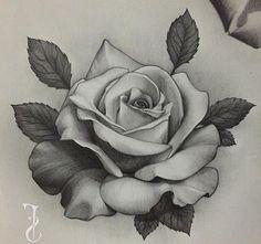 Tattoos And Body Art rose tattoo design Rose Drawing Tattoo, Tattoo Sketches, Tattoo Drawings, Rose Drawings, Drawing Drawing, Watercolor Tattoos, Art Sketches, Stencils Tatuagem, Tattoo Stencils