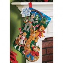 Bucilla Felt Applique Christmas Stocking Kit: Christmas in Oz