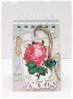 Shabby chick notebook