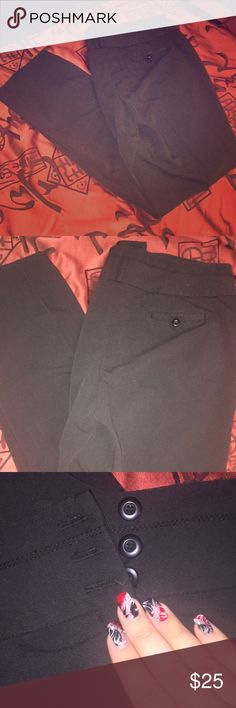 Like new Dress Barn black size 14 dress pants Beautiful black Dress Barn button up dress pants are perfect for business meetings, religious events or fancy dinners 🍱🍝🍣size xl in women's 👖👖👖 Dress Barn Pants