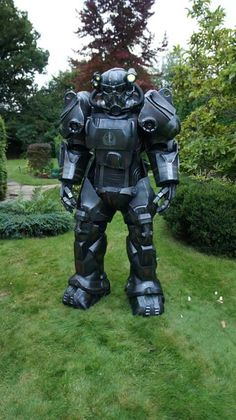 Brotherhood of Steel Power Armor Fallout 4 Video Game Cosplay, Epic Cosplay, Amazing Cosplay, Cosplay Costumes, Anime Cosplay, Fallout Cosplay, Fallout 4 Costume, Fallout Power Armor, Fallout Fan Art