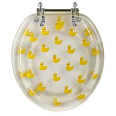 Rubber Ducky Toilet Seat - Round, Acrylic, Duck Pattern - Magnolia | B-900-Y