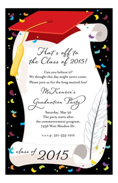 299 Best Graduation Announcements Party Invitations Images On